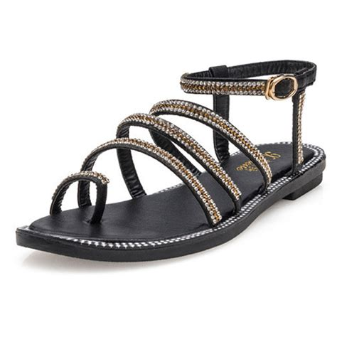 Comfortable Sandals For by Gladiator Sandals With Rhinestone Flip Flop Flat
