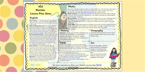 ideas for ks2 music lessons lesson plan ideas ks2 to support teaching on matilda matilda