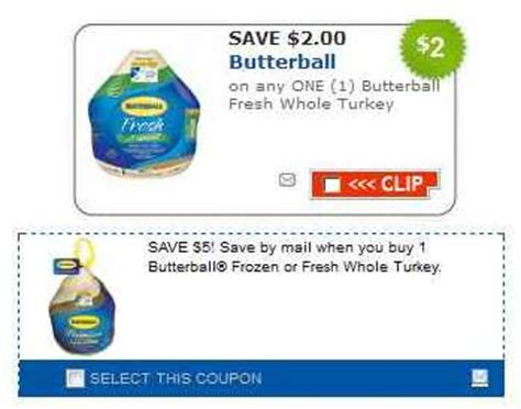 printable butterball turkey coupons butterball turkey coupon 5 mail in rebate passion for
