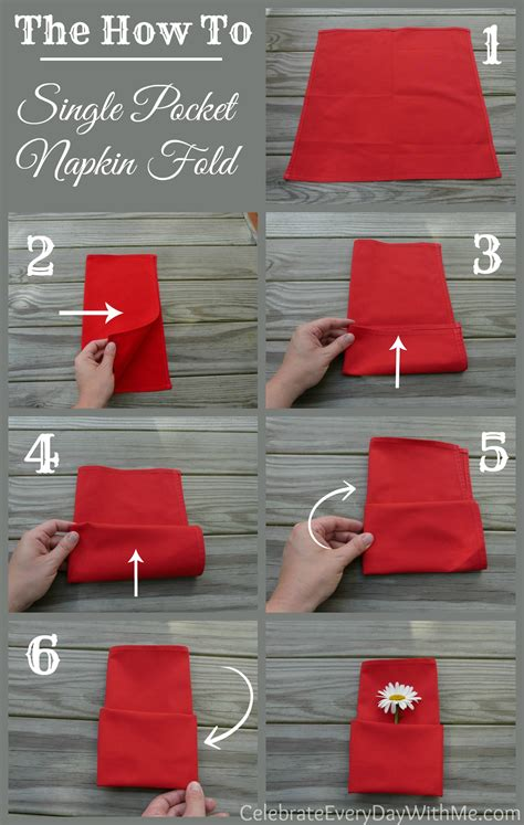 How To Make A Paper Pocket - single pocket napkin fold for summer entertaining ef 5