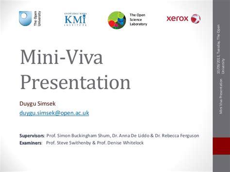 Phd Mini Viva Talk Dissertation Viva Presentation