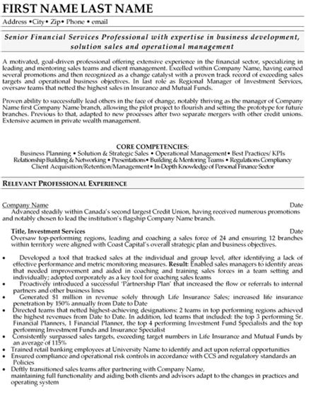 Resume Sles For Experienced Finance Professionals Top Banking Resume Templates Sles