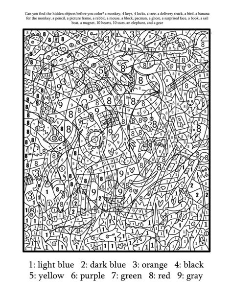 pages by number coloring pages printable color by number for adults free
