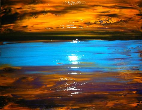 the golden sunset painting by kicking productions
