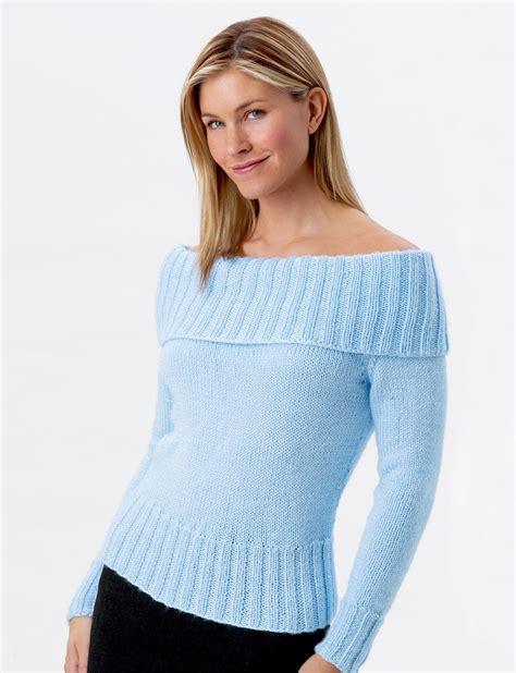shoulder knit shoulder sweater patterns yarnspirations