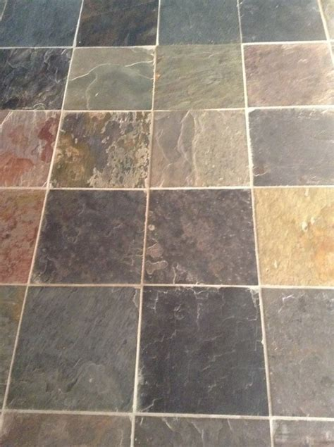 can you stain slate floors a darker color
