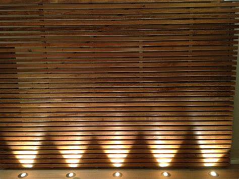 wood feature wall architectural lighting pinterest