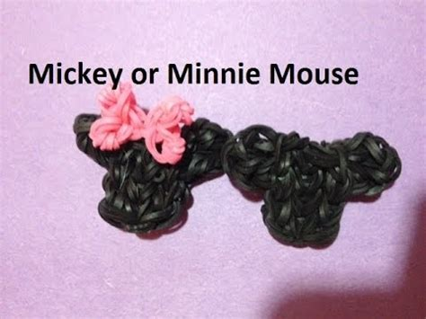 tutoriel latex head rainbow loom minnie mouse videolike