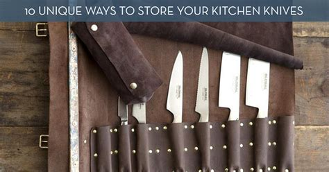 Best Way To Store Kitchen Knives Toss The Block 10 Creative Ways To Store Kitchen Knives Curbly