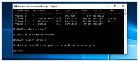 diskpart format and assign drive letter assign change or remove drive letter with diskpart