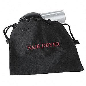 Hair Dryer In A Bag hospitality 1 source hair dryer bag 12x12in black cotton