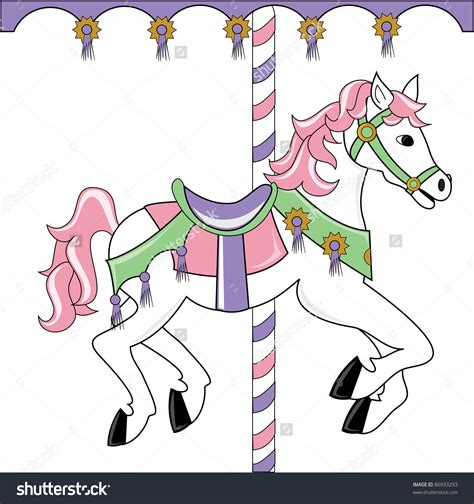 Carousel Horse Clipart Clipground Carousel Template Html
