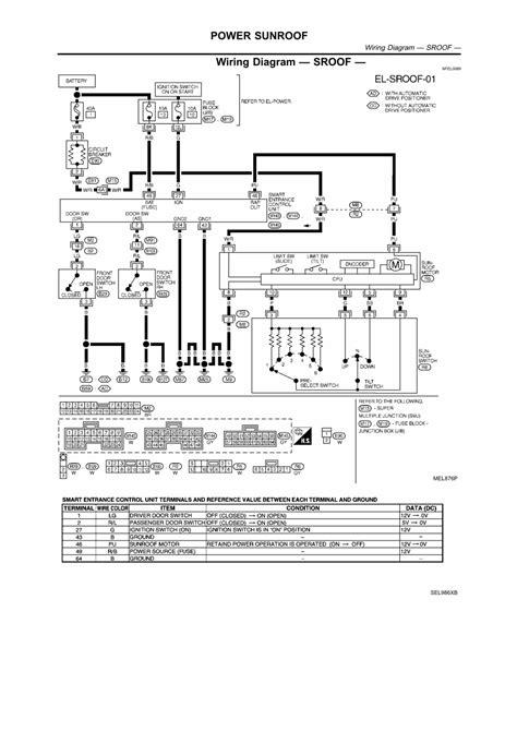 nissan 350z navigation wiring diagram get free image