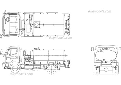 truck templates for autocad tank truck dwg free cad blocks download