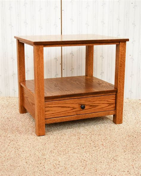 mission style end table de vries woodcrafters