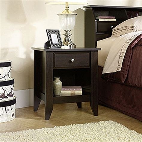 Sauder Shoal Creek Nightstand by Sauder Shoal Creek 1 Drawer Jamocha Wood Nightstand 409942