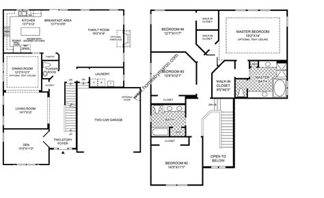 Townhome Floor Plan Designs Berkshire Model In The Bowes Creek Country Club