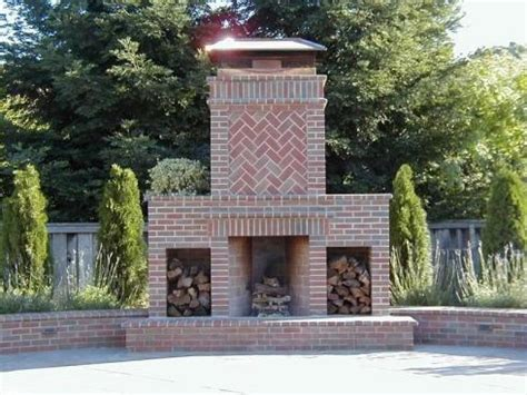 Outdoor Brick Fireplace Ideas by Standout Outdoor Brick Fireplaces Delectable Decorative
