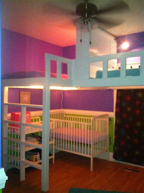 girls   room loft beds   home