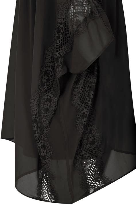 Batik Hem Wk 11 Exclusive 46 yours schwarzes chiffon spitzen oberteil mit