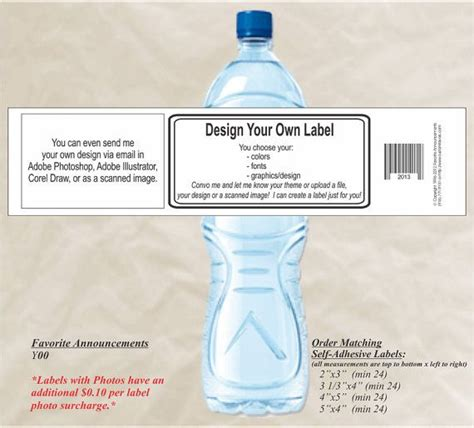 water bottle label design your own 20 diy water bottle label design your own by