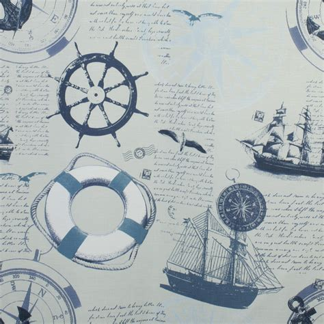 home decor fabric nautical sailboats blue fabricville