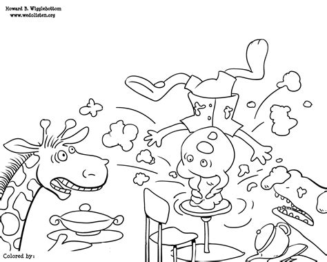 The We Do Listen Foundation Color Me Howard Personalized Manners Coloring Pages 2