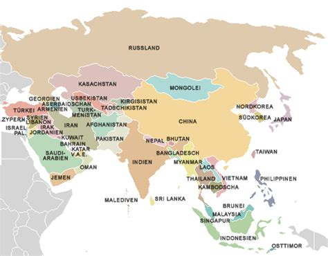 simple map of asia simple map of asia nerdstrum geography