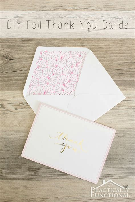 make your own thank you cards diy foil thank you cards