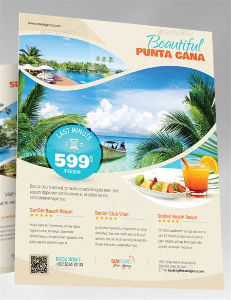 vacation flyer template 30 travel flyers psd vector eps jpg