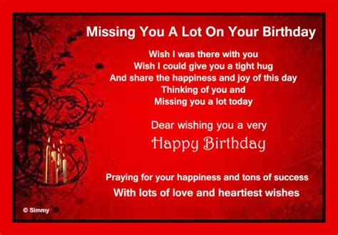 Missing Your Birthday Quotes Birthday Quotes For Son Far Away Son Birthday Messages