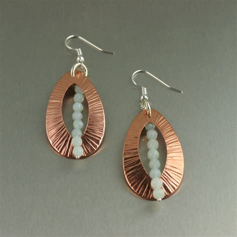Handcrafted Earrings - handmade copper jewelry july 2012