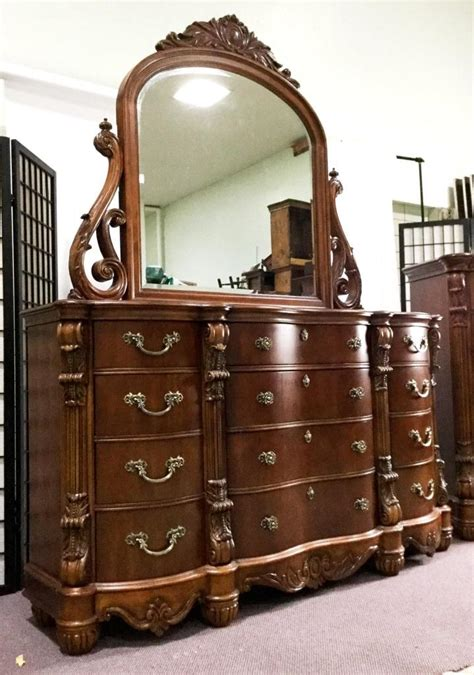 5 pc pulaski furniture edwardian style bedroom set