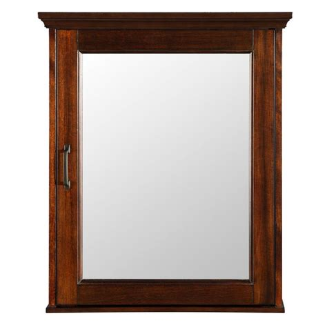 Mahogany Medicine Cabinet by Foremost Ashburn 23 In W X 28 In H X 7 3 4 In D Framed