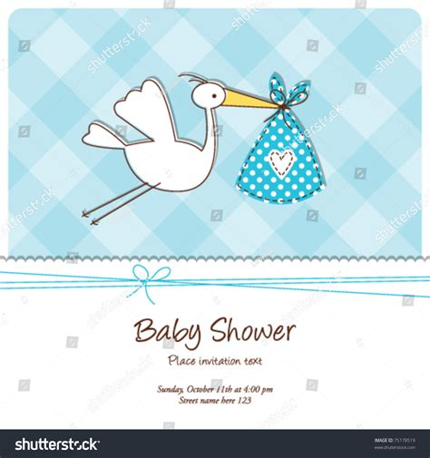 baby boy card template baby shower invitation template baby stock vector