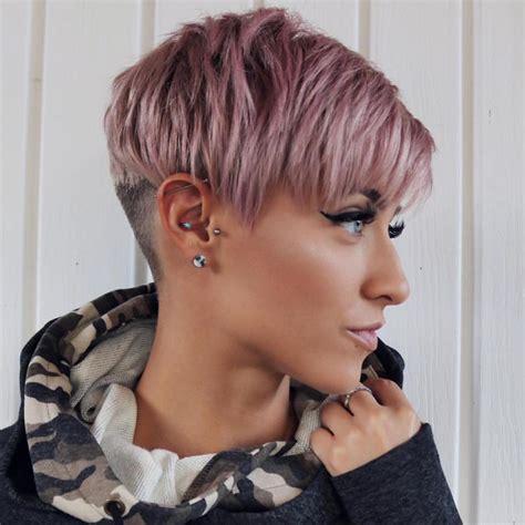 trendy  short haircuts  female cool short hair