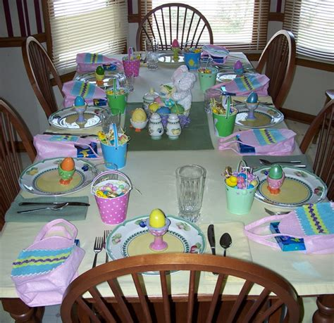 easter table decorations table decorating