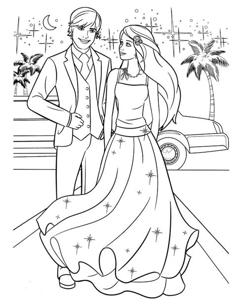 Syari Prins 1 and ken coloring pictures coloring page