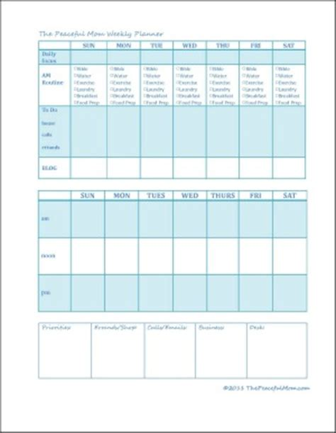 weekly planner for moms printable the peaceful mom weekly planner 3 the peaceful mom