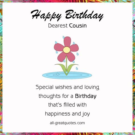 Free Cousin Birthday Cards For happy birthday cousin images free birthday cards for