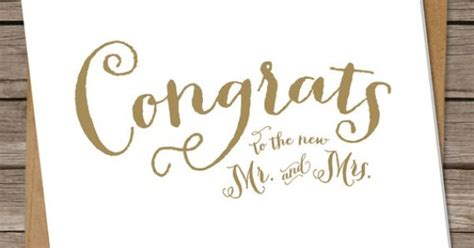 how to write wedding card congratulations wedding congratulations card wedding congrats greeting card calligraphy script gold simple