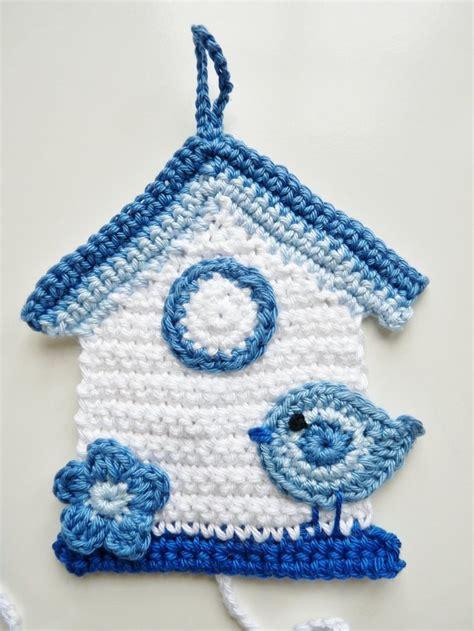 crochet house pattern free crochet bird house potholder potholders birds pinterest