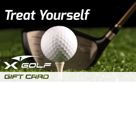 X Golf Gift Voucher Treat Yourself X Golf Golf Gift Certificate Template