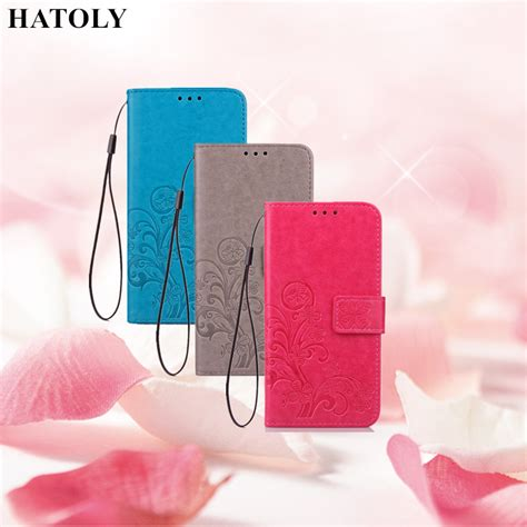 hatoly for flip wallet xiaomi redmi 4 pro leather