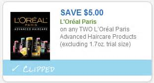 l oreal products 5 00 printable coupon high value 5 00 l oreal haircare coupon