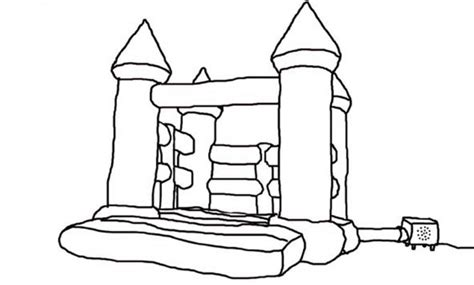 Bouncy Castle Coloring Page | free coloring pages of bouncy castle