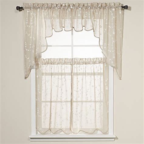 tiered kitchen curtains buy kitchen tier curtains from bed bath beyond