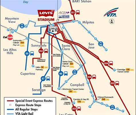san francisco lot map levi s stadium san francisco 49ers stadium visit santa