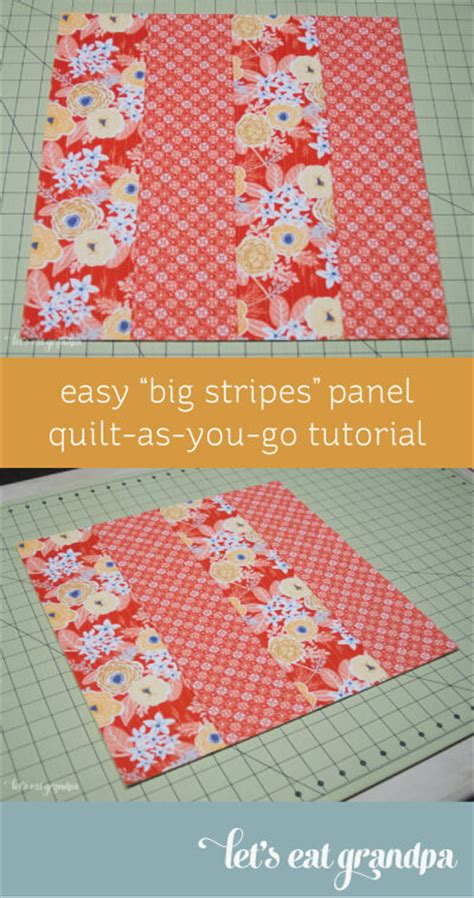 Easy Quilt As You Go by Easy Big Stripes Quilt As You Go Tutorial Hey Let S