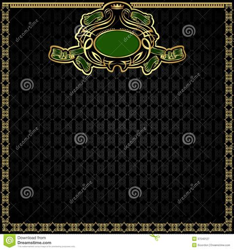 Royal Green royal green gold background stock vector illustration